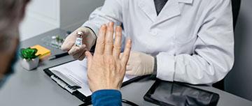 Un patient refuse le traitement proposé par son médecin