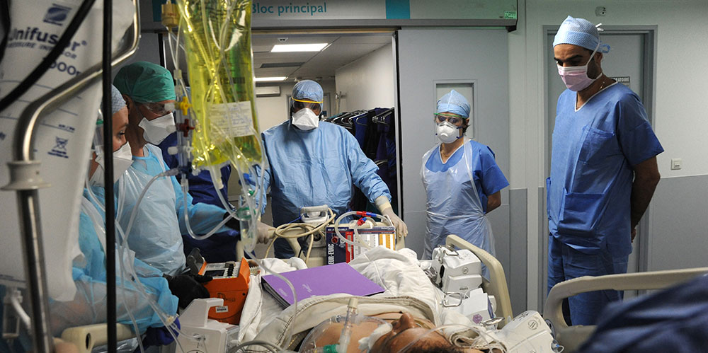 Transport au bloc opératoire - patient Covid-19