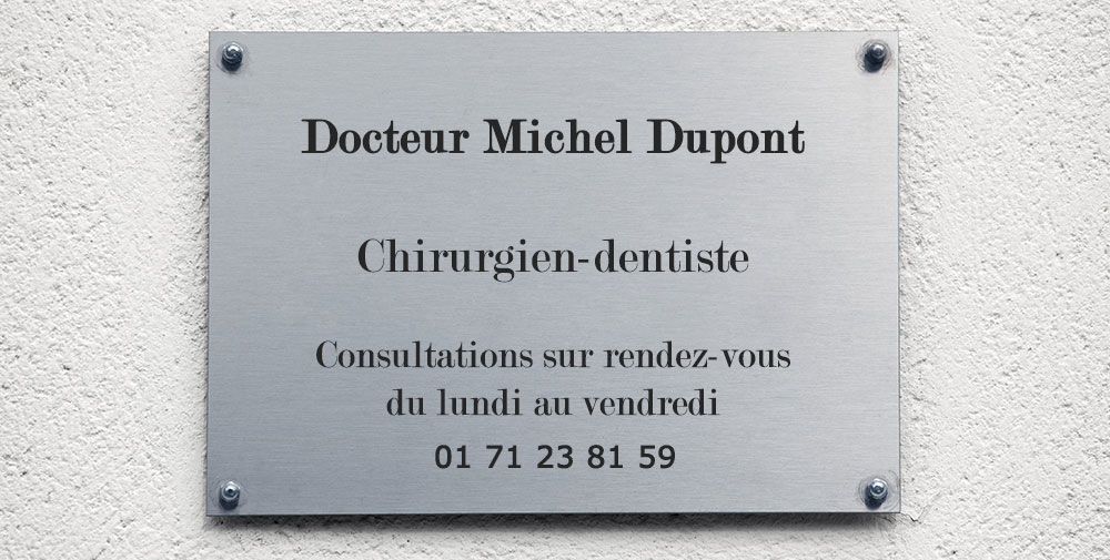 Plaque d'appartenance Chirdent