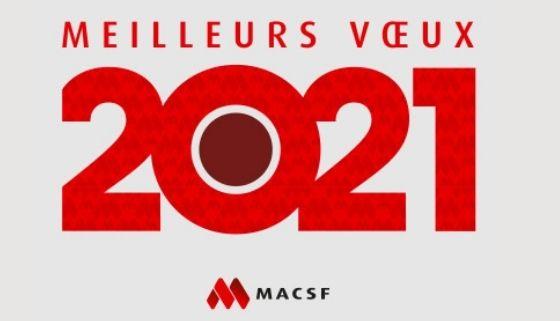 La MACSF vous adresse ses meilleurs voeux pour 2021