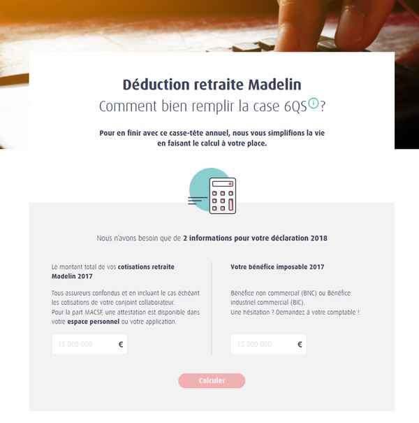 Calculatrice Madelin 6QS