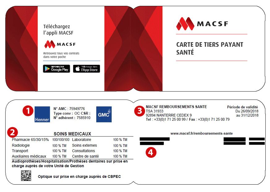 Carte tiers payant MACSF