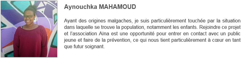 Aynouchka MAHAMOUD - Solidarité Reims Madagascar