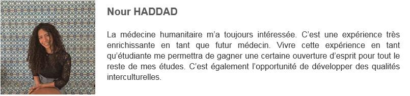Nour HADDAD - Solidarité Reims Madagascar 2019
