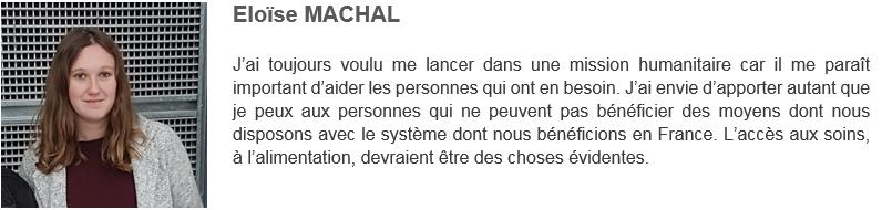 Eloïse MACHAL - Solidarité Reims Madagascar 2019