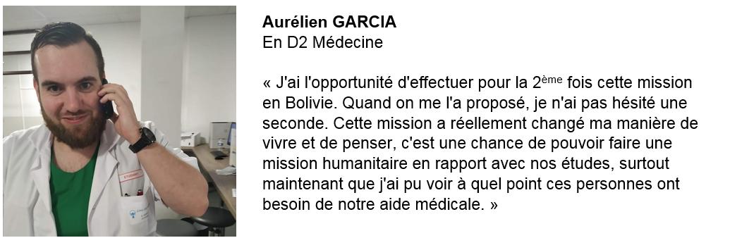 Aurélien GARCIA - Solidarité Reims Bolivie 2019