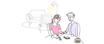 un medecin parle avec sa patiente