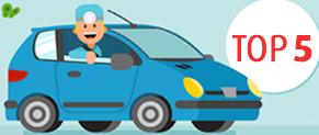 Top 5 des voitures les plus conduites par les étudiants en santé