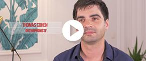 Témoignage vidéo de Thomas Cohen, jeune orthophoniste qui se confie sur son avenir et celui du monde de la santé.