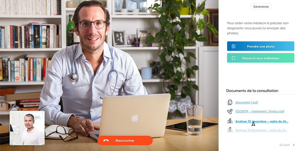 médecin en téléconsultation