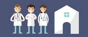 Professionnels de santé en maison en santé pluridisciplinaire.
