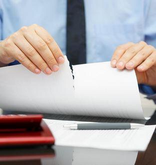 Dissolution d'un contrat
