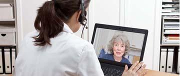 médecin en vidéo consultation