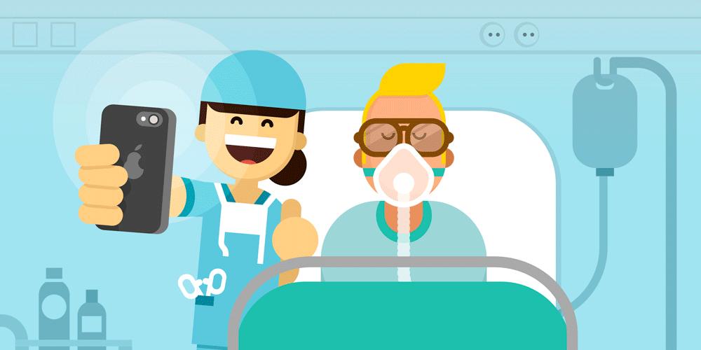 selfie avec patient