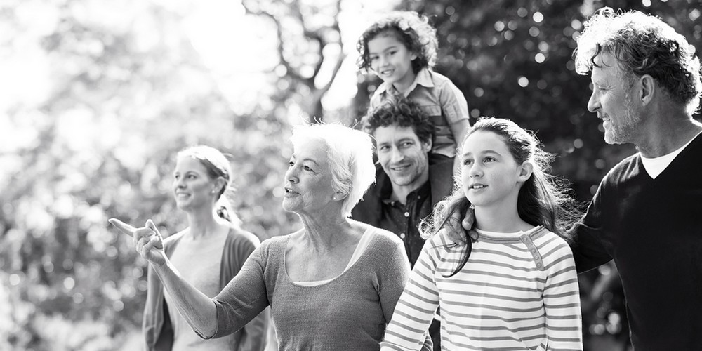 Grand-mère famille