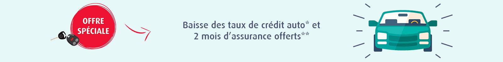 Baisse taux crédit auto juin 2017