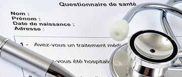 Questionnaire médical et endocardite
